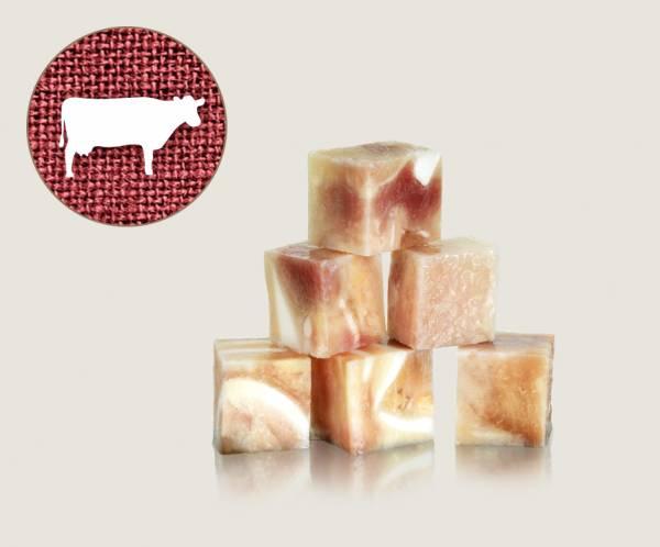 Graf Barf Ochsenmaul mit Knorpel Rind - hochwertige Rohfutterwürfel für Hunde bestellen!