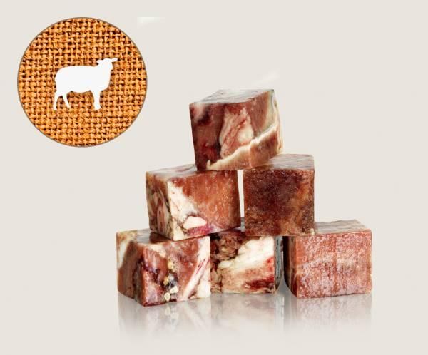 Graf Barf Muskelfleisch Lamm / Lammfleisch - hochwertige Rohfutterwürfel für Hunde bestellen!