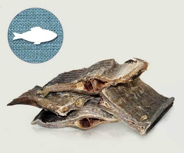 Getrockneter Knusper Seelachs, der gesunde Kauspaß für Hunde - richtig barfen mit Graf Barf